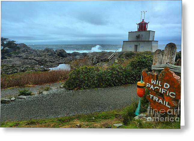 Ucluelet Briish Columbia Lighthouse Greeting Card by Adam Jewell