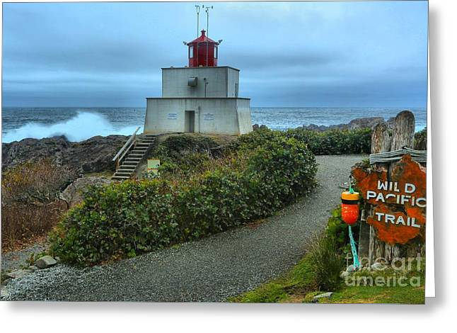 Ucluelet Pounding Surf Greeting Card by Adam Jewell