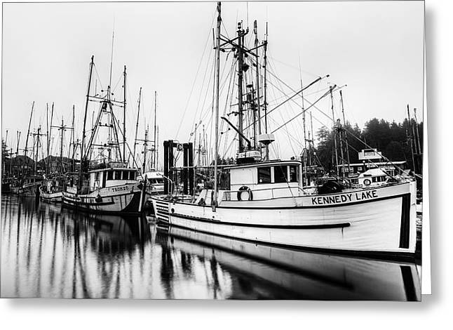 Trawler Greeting Cards - Ucluelte Harbour - Vancouver Island BC Greeting Card by Mark Kiver