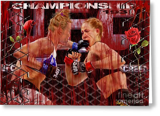 Ufc The New Soylent Green Greeting Card by Reggie Duffie