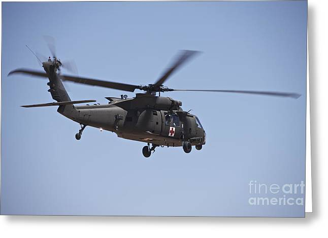 Angel Blues Greeting Cards - Uh-60 Black Hawk Takes Greeting Card by Terry Moore