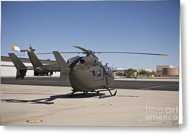 Uh-72 Lakota Helicopter At Pinal Greeting Card by Terry Moore