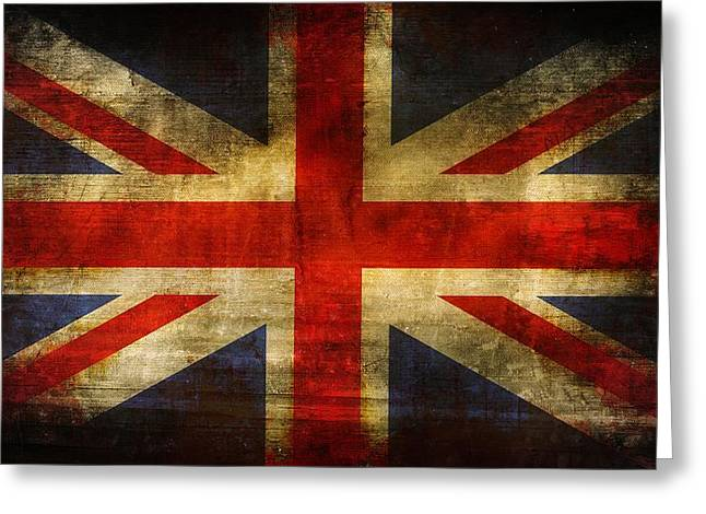 Uk Flag Greeting Card by Brett Pfister