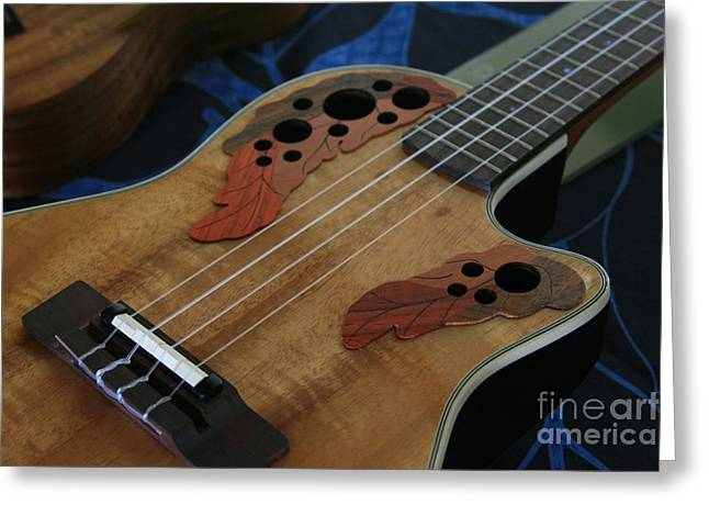 Ourjrny Greeting Cards - Ukulele Greeting Card by Sharon Mau