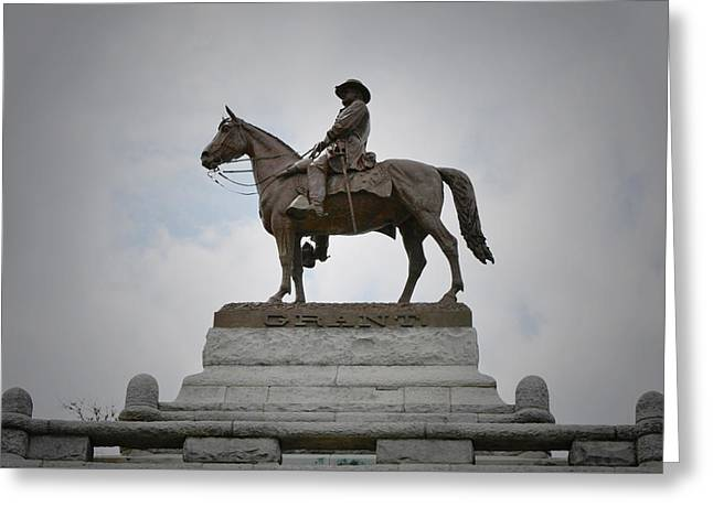 Statue Portrait Greeting Cards - Ulysses S Grant Memorial Greeting Card by Richard Andrews