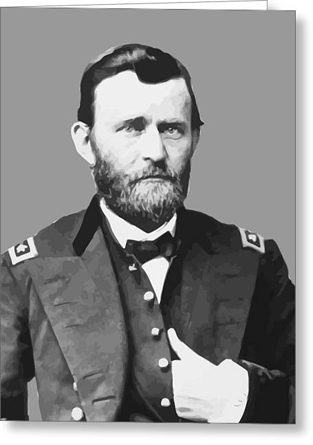 U S Presidents Greeting Cards - Ulysses S Grant Greeting Card by War Is Hell Store