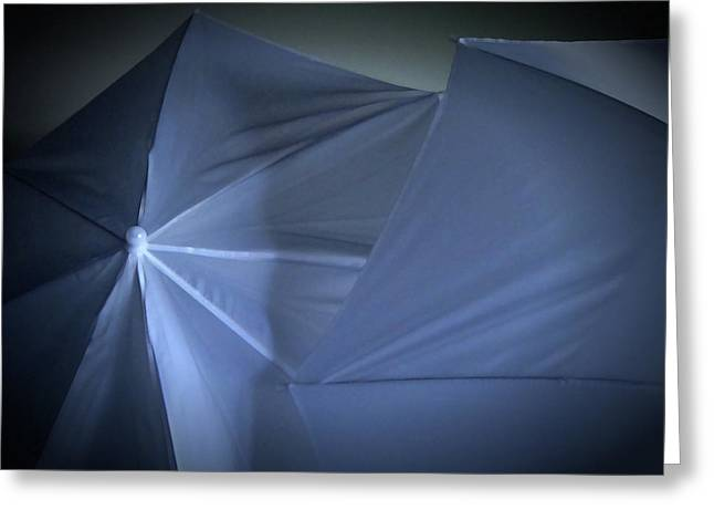 Umbrella Abstract 40 Greeting Card by Mary Bedy