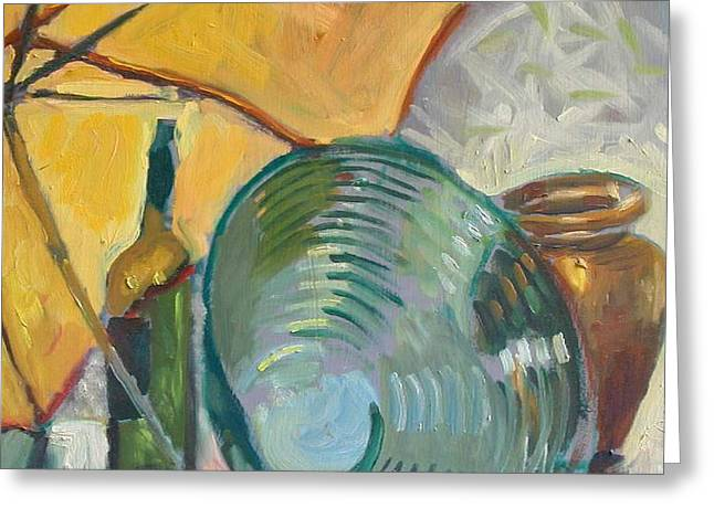 Umbrella and the bottle Greeting Card by Piotr Antonow
