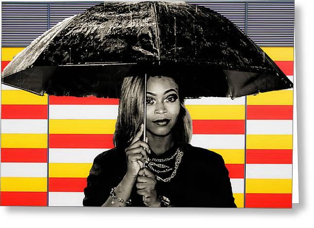 Umbrella  Greeting Card by Britten Adams