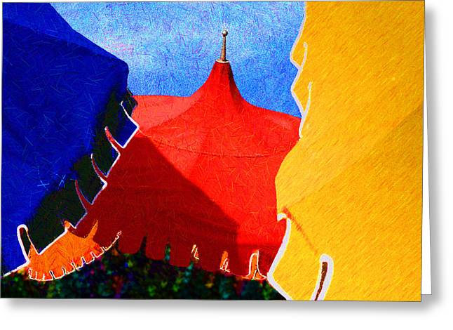 Gaphic Greeting Cards - Umbrella Party Greeting Card by Paul Wear