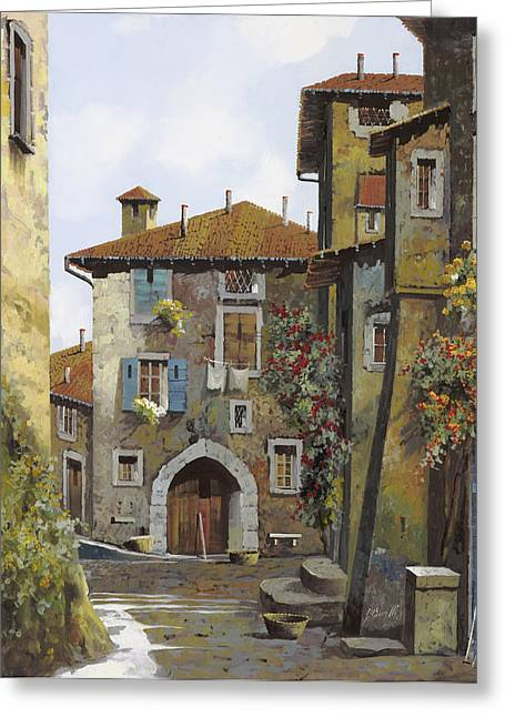 Narrow Greeting Cards - Umbria Greeting Card by Guido Borelli