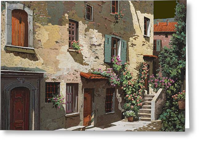Italy Greeting Cards - Un Cielo Improbabile Greeting Card by Guido Borelli