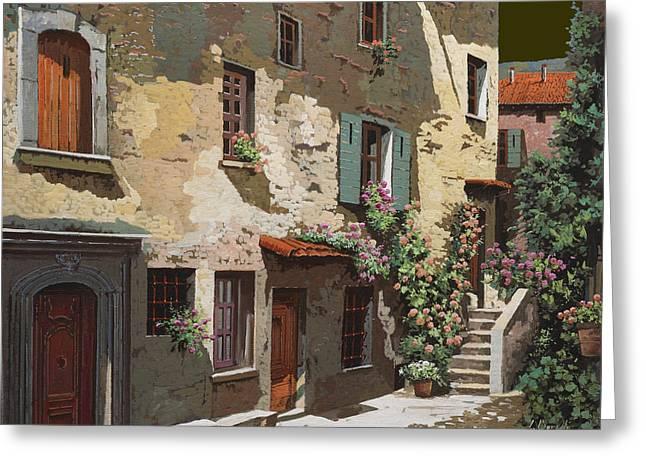 Village Greeting Cards - Un Cielo Improbabile Greeting Card by Guido Borelli