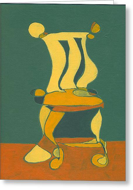 Un-sittable Small Greeting Card by John Gibbs