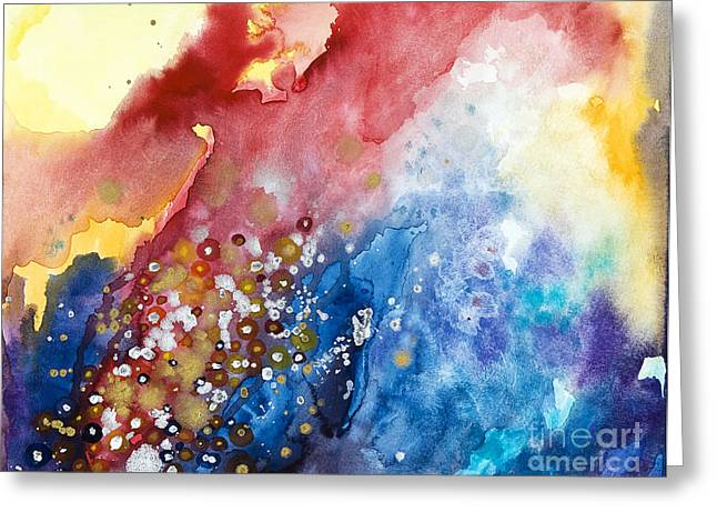 Burst Paintings Greeting Cards - Unabashed Greeting Card by Tara Thelen - Printscapes