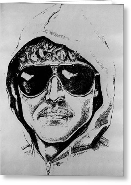 Unabomber Ted Kaczynski Police Sketch 1 Greeting Card by Tony Rubino