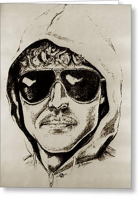 Unabomber Ted Kaczynski Police Sketch 2 Greeting Card by Tony Rubino