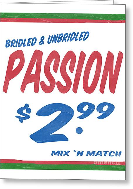 Bridle Greeting Cards - Unbridled Passion Supermarket Series Greeting Card by Edward Fielding