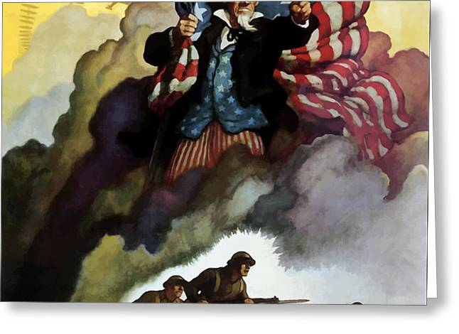 Uncle Sam Buy War Bonds Greeting Card by War Is Hell Store