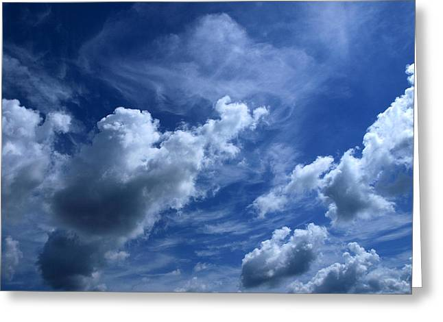 Unclouded Mind Greeting Card by Tom Druin