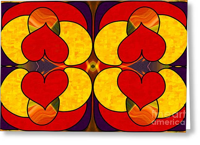 Unconditional Love Abstract Art By Omashte Greeting Card by Omaste Witkowski