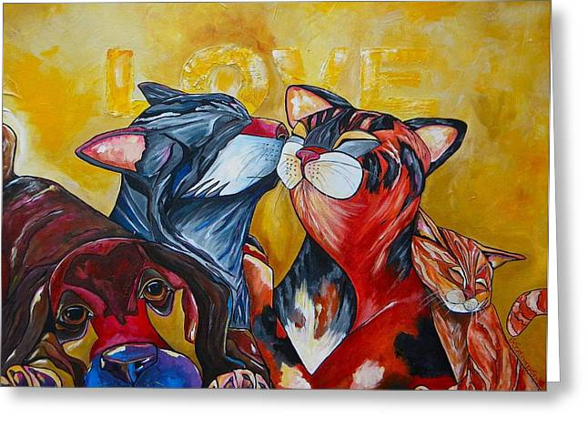Animals Love Greeting Cards - Unconditional Love Greeting Card by Patti Schermerhorn