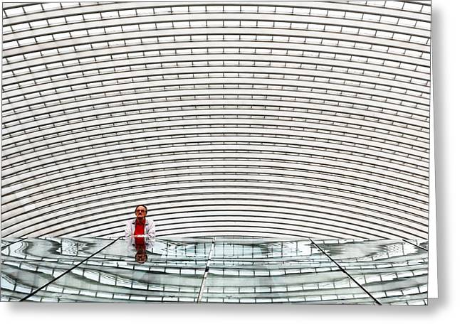 Calatrava Greeting Cards - Under Arches Greeting Card by Michel Guyot