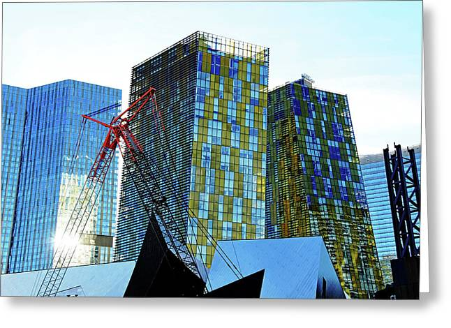 Under Construction Greeting Card by Debbie Oppermann