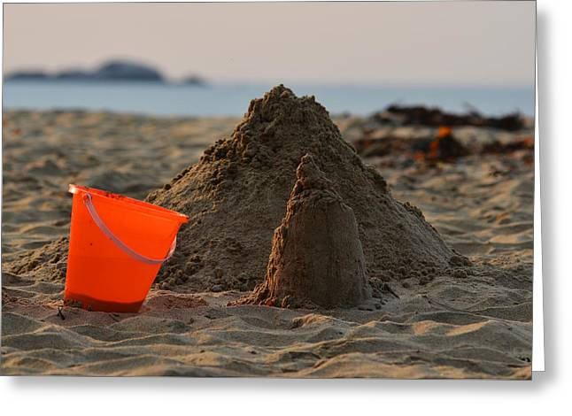 Sand Castles Digital Greeting Cards - Under Construction Singing Beach Manchester by the Sea MA Greeting Card by Toby McGuire