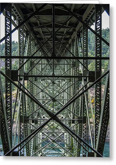 Under Deception Pass Bridge Greeting Card by Pelo Blanco Photo