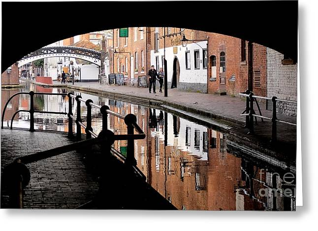 Canal Street Line Greeting Cards - Under The Arches Greeting Card by John Chatterley