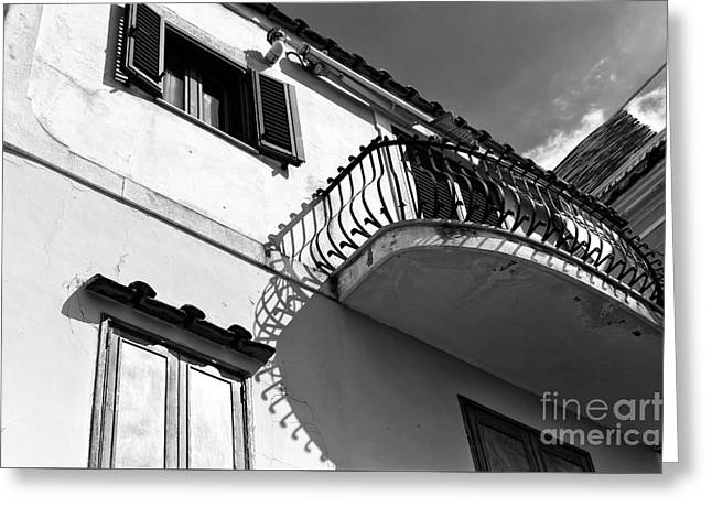Print Photographs Greeting Cards - Under the Balcony in Positano Greeting Card by John Rizzuto