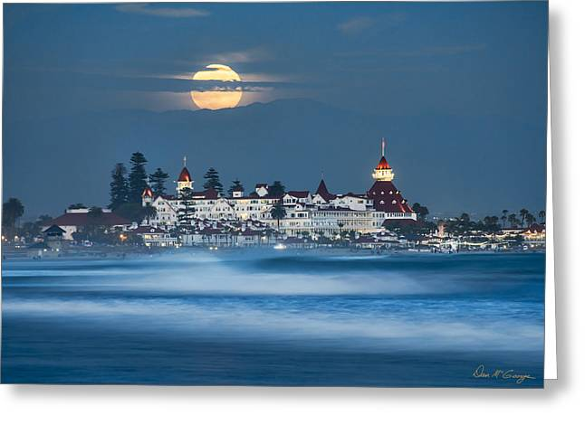 Under The Blue Moon Greeting Card by Dan McGeorge
