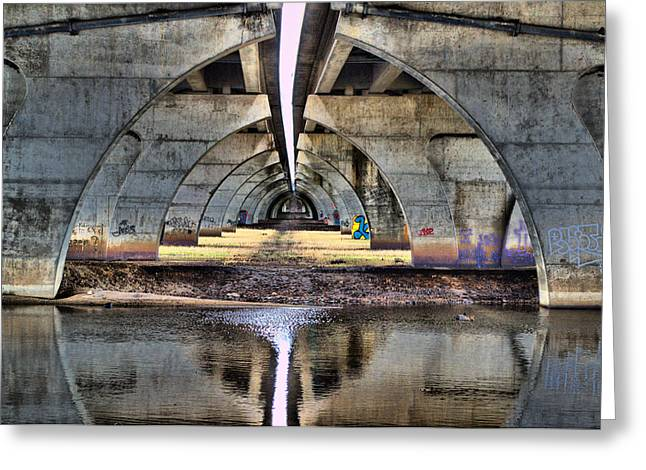 Wildlife Refuge. Pyrography Greeting Cards - Under the Bridge Greeting Card by Eric Wait