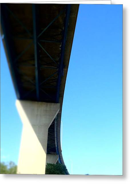 Storm Prints Greeting Cards - Under the Bridge Greeting Card by Justin Moore