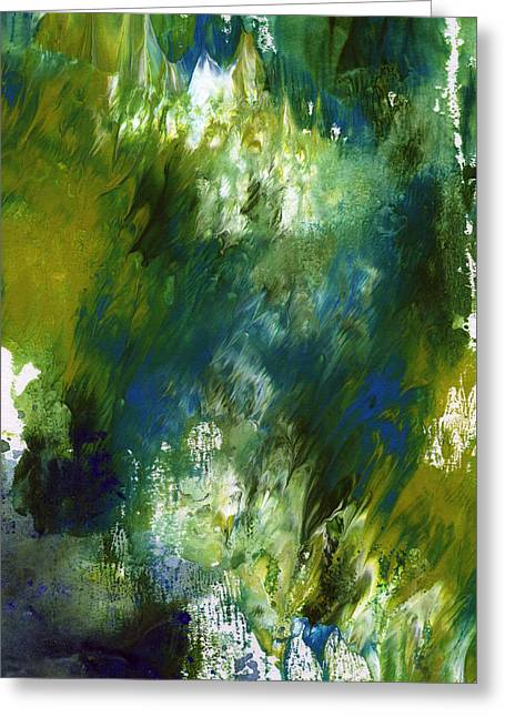 Under The Canopy- Abstract Art By Linda Woods Greeting Card by Linda Woods