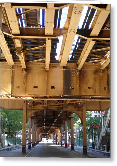 Ely Greeting Cards - Under The El - 1 Greeting Card by Ely Arsha