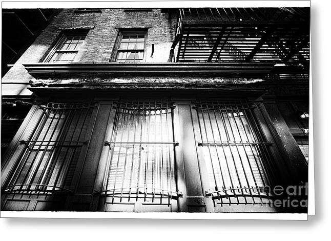 Under Fire Greeting Cards - Under the Fire Escape Greeting Card by John Rizzuto