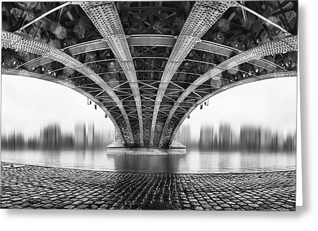 Blur Greeting Cards - Under The Iron Bridge Greeting Card by Em-photographies