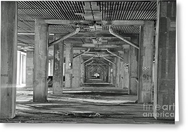 Streets Of Montreal Greeting Cards - Under The Overpass Greeting Card by Reb Frost