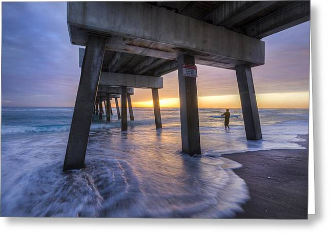 Sound Board Greeting Cards - Under the Pier Greeting Card by Debra and Dave Vanderlaan