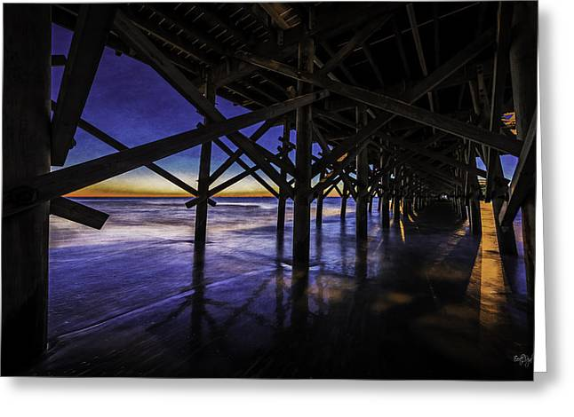 Myrtle Beach Greeting Cards - Under The Pier Greeting Card by Everet Regal