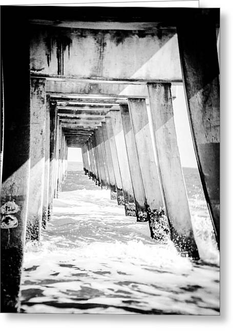 Jacksonville Greeting Cards - Under The Pier in Jacksonville Greeting Card by Sarah  Kish
