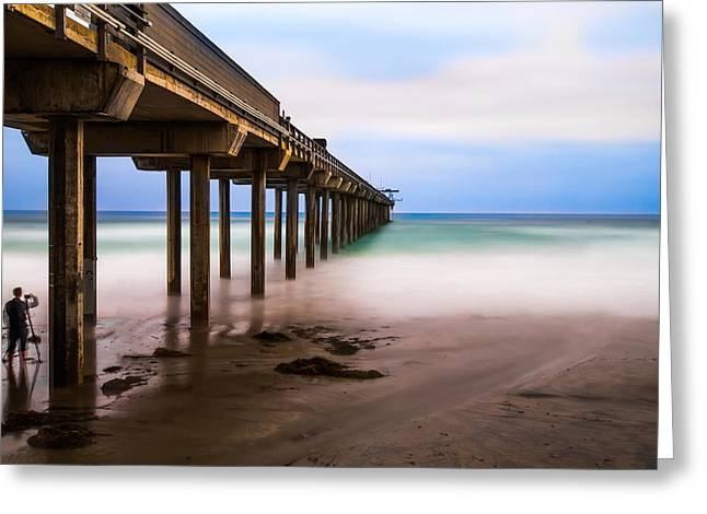 Blur Photography Greeting Cards - Under the Pier Greeting Card by Larry Marshall