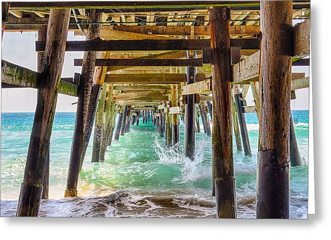 Clemente Greeting Cards - Under The Pier - San Clemente - California Greeting Card by Bruce Friedman