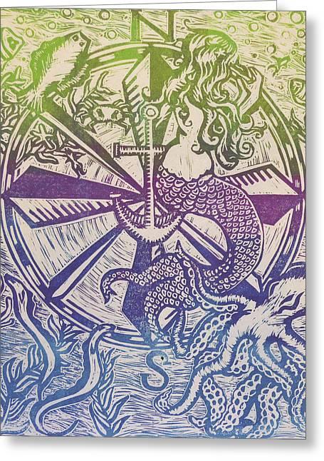 Under The Sea 3 Greeting Card by Melissa Brazeau