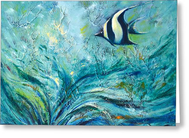 Greeting Cards - Under the Sea 9 Greeting Card by Gina De Gorna