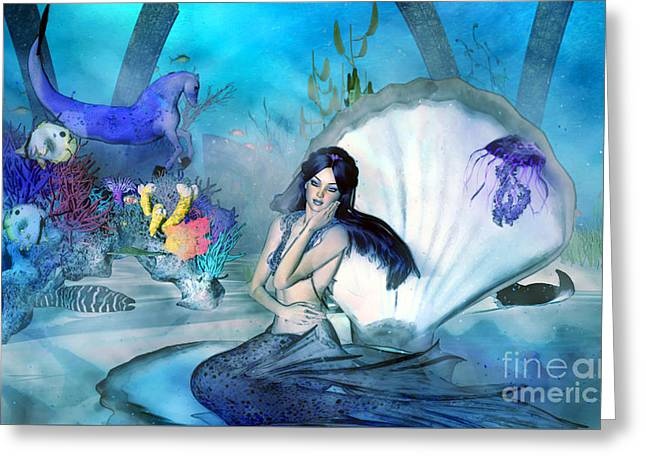 Under The Sea Daydreams Greeting Card by Methune Hively