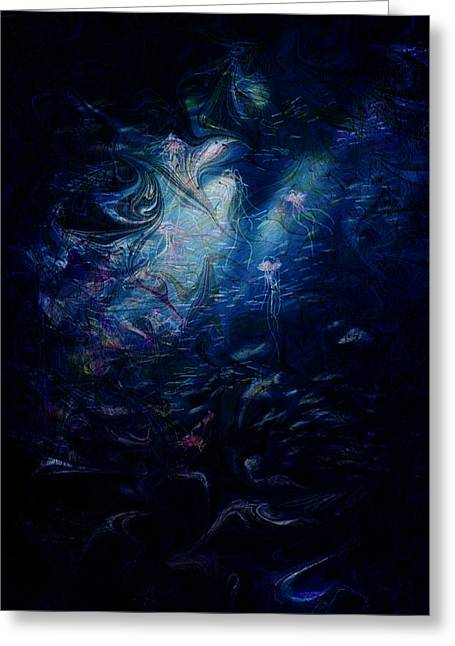 Fantasy World Greeting Cards - Under the Sea Greeting Card by Rachel Christine Nowicki