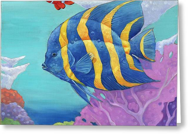 Sea Life Greeting Cards - Under the Sea - Tropical Fish Greeting Card by Paul Brent